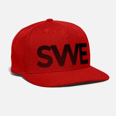 License Plate Sweden Sweden country home abbreviation indicator - Snapback Cap