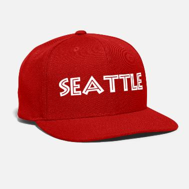Seattle Seattle white lettering gift gift idea - Snap-back Baseball Cap