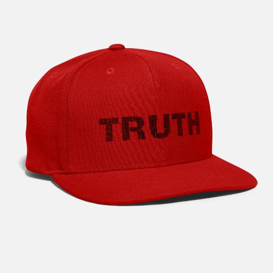 Truth Caps - Truthful Lies - Snapback Cap red