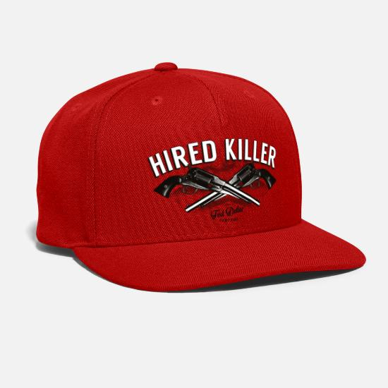 Vintage Caps - Hired Killer - Snapback Cap red
