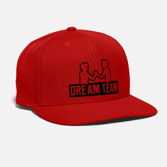 Team Bride Caps - logo dream team 2 friends team couple brothers han - Snapback Cap red