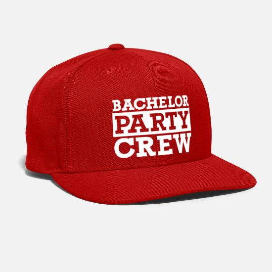 Bachelor Caps - Bachelor Party Crew - Snapback Cap red