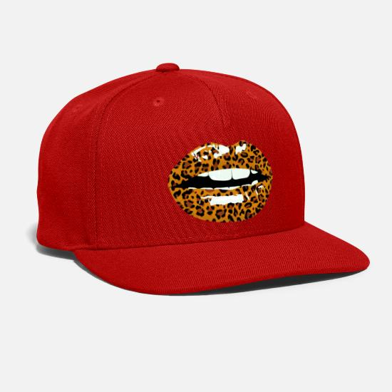 Print Caps - leokiss animal print - Snapback Cap red