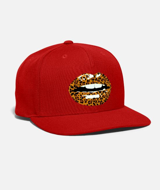 Print Caps & Hats - leokiss animal print - Snapback Cap red