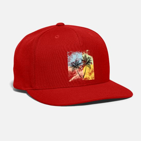 Palm Caps - Palm Trees - Snapback Cap red