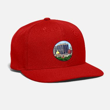 Commonwealth Boston MA - Skyline with Massachusetts State House - Snapback Cap