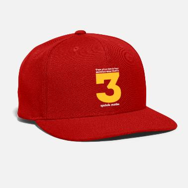 Minus 2 Plus 2 Is 4 Minus One Thats Three Quick Maths T-Shirt - Snap-back Baseball Cap