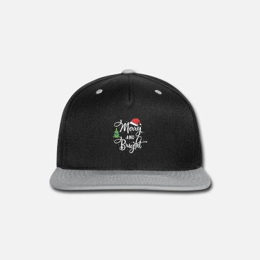 Christmas Merry And Bright Shirt, Christmas, Gift, X-mas - Snapback Cap
