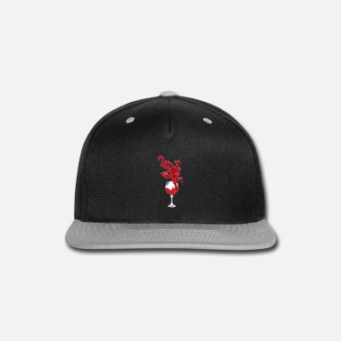 Wine Flamingo Wine T shirt For Wine Lovers - Snapback Cap