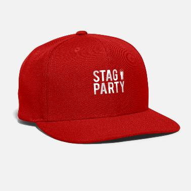 Bachelor Party Stag Party Funny Beer Glass Groom Bachelor Party - Snapback Cap