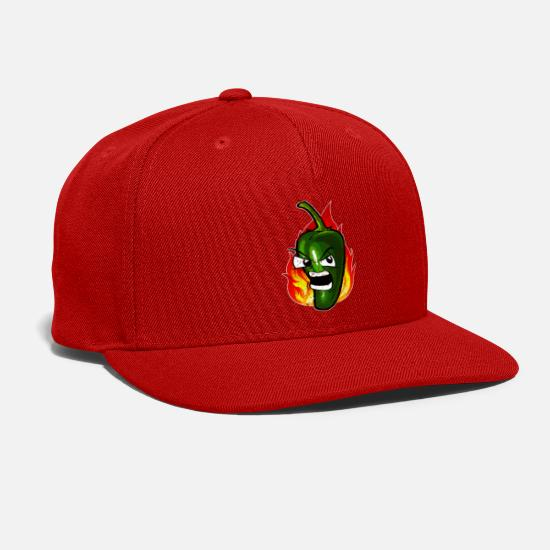 Hot Caps - Hot Green Chili Fiery - Snapback Cap red