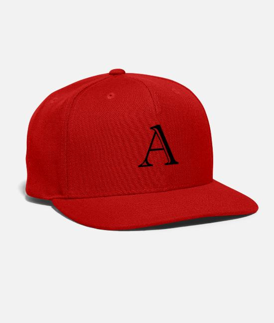 Alphabet Caps & Hats - a letter - Snapback Cap red