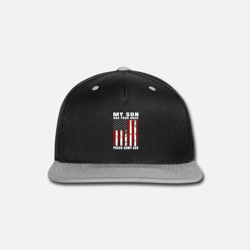 297c40f337eab Unique Distressed USA American Flag Proud Army Dad T-shirt Snapback Cap