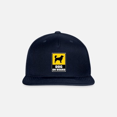 Board Sign DOG on Board - musher-shirts.com - Snapback Cap