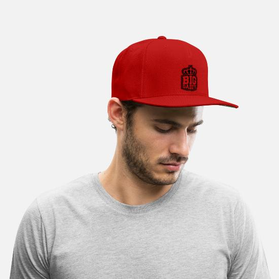 Logo Crown Father S Day Big Daddy Hero Dad Vater Snap Back Baseball Cap Red