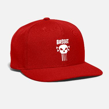 Bass Bassist Skull T Shirt - Snap-back Baseball Cap