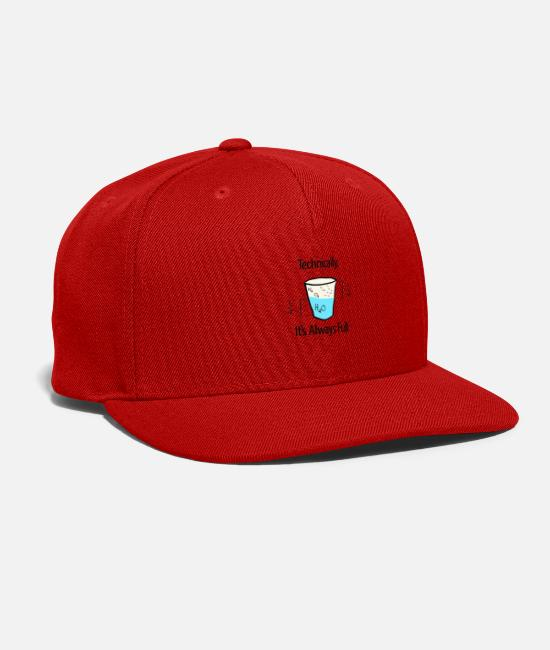 Studies Caps - Molecules Humor - Snapback Cap red
