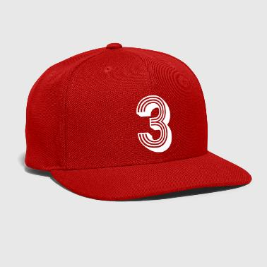 Number 3 Jersey Age Birthday Cool Gift Nice Great - Snap-back Baseball Cap