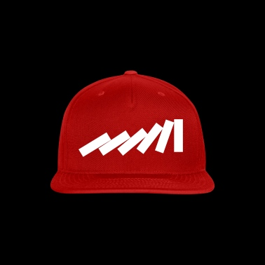 Dominos Falling Down in a chain - creative design - Snap-back Baseball Cap