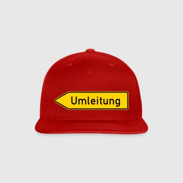 Umleitung Left - German Traffic Sign - Snap-back Baseball Cap