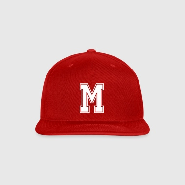 Letter M - Snap-back Baseball Cap