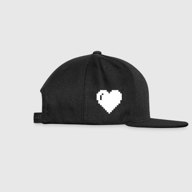8bit heart - Snap-back Baseball Cap