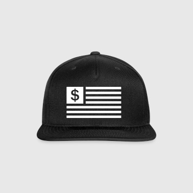 American Dollar Sign Flag - Snap-back Baseball Cap