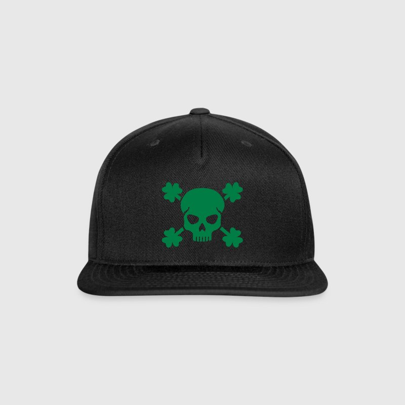 Shamrock skull - Snap-back Baseball Cap