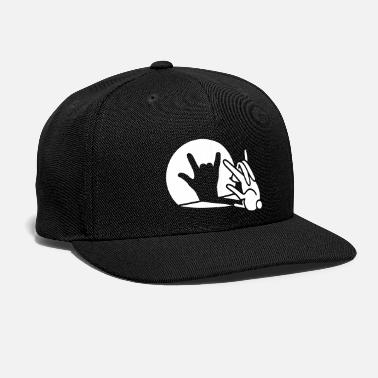 Puppetry Funny rabbit shadow hand cartoon ROCK music METAL - Snapback Cap