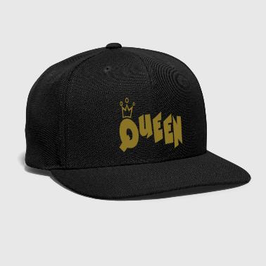 Queen Typography Crown - Snap-back Baseball Cap