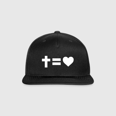 Cross Equals Love - Snap-back Baseball Cap