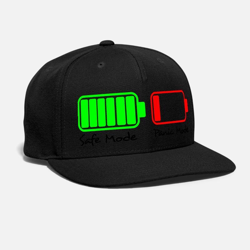 whats make human panic Snap-back Baseball Cap - black