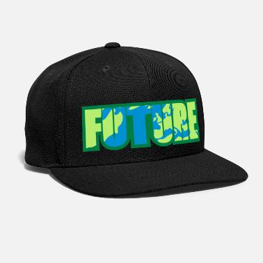 Protester world earth planet europe cool logo future protest - Snapback Cap