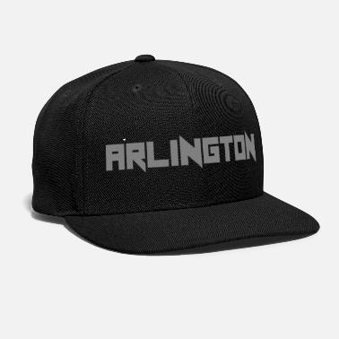 Grey Arlington horizontal grey lettering gift idea - Snap-back Baseball Cap