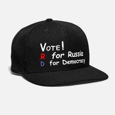 Democracy Vote Russia Or Democracy T-Shirt - Snap-back Baseball Cap