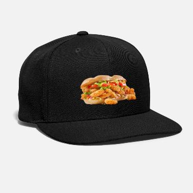Fried Shrimp Poboy overflowing realistic sandwich - Snapback Cap