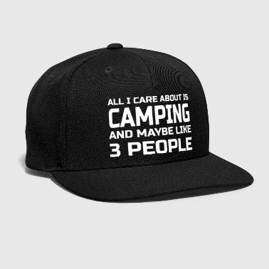 Care Care about Camping - Snap-back Baseball Cap