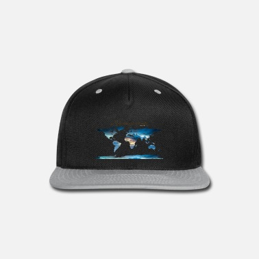 Map World map - Let' go! - Snapback Cap