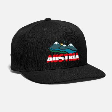 Innsbruck Austria with mountains - Snap-back Baseball Cap