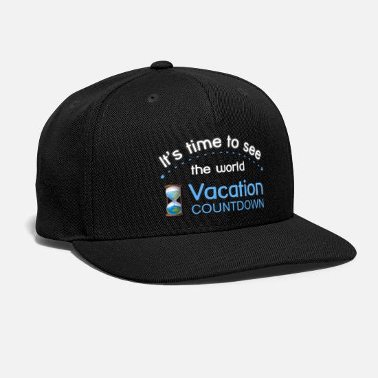 Sayings Caps - It's time to see the world - Snapback Cap black