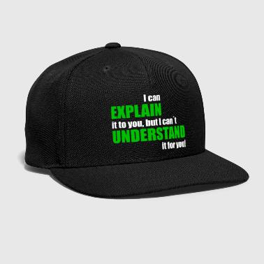 Language Programmers Program Nerd Geek Gift IT - Snap-back Baseball Cap