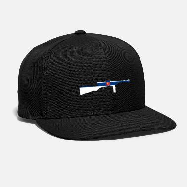 Konepistooli Suomi KP/-31 Submachine gun with Finnish flag - Snapback Cap
