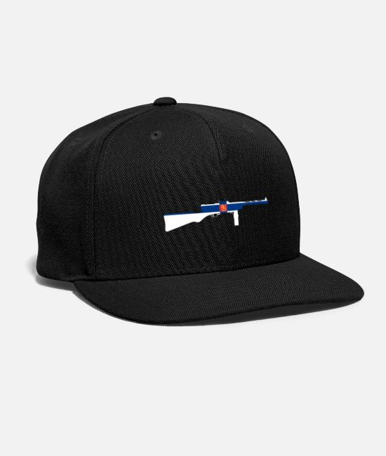 Guns Caps & Hats - Suomi KP/-31 Submachine gun with Finnish flag - Snapback Cap black