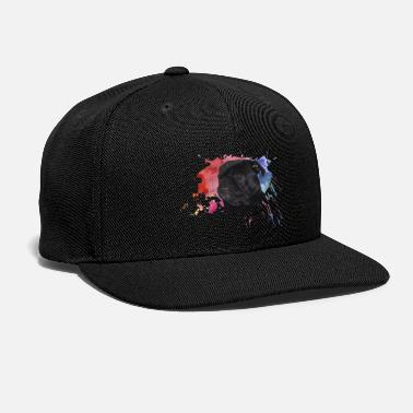 Paint Splatter Pug Paint Splatter - Snap-back Baseball Cap