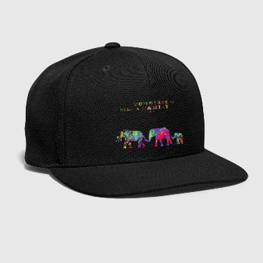 Elephant family - Snap-back Baseball Cap