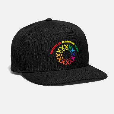 Cancer World cancer day colorful typography T shirt - Snap-back Baseball Cap