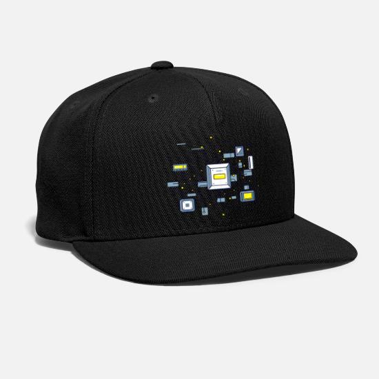 Matrix Caps - robot chip matrix - Snapback Cap black