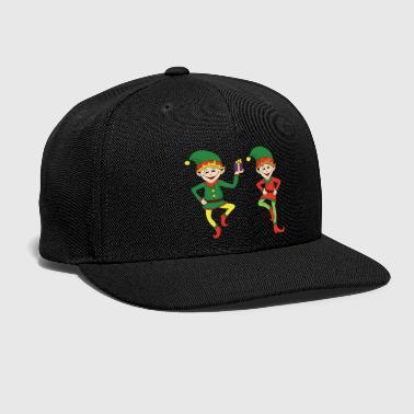 Christmas Xmas Elf Elves - Snap-back Baseball Cap