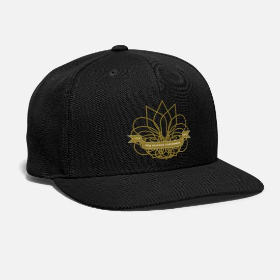 Jazz Caps - Vector New Orleans Tricentennial, 1718-2018 - Snapback Cap black