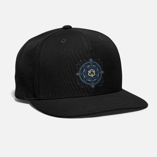 Minimalist Caps - D20 Dice of Doom Minimalist Blue Tabletop RPG - Snapback Cap black